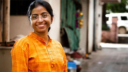 Social Activist and IVLP Alumna Sunitha Krishnan founded Prajwala in 1996 to rescue and aid survivors of sex-trafficking.