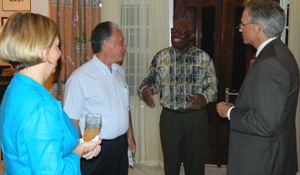 Former Surinamese President Ronald Venetiaan with Ambassador Anania and fellow alumni