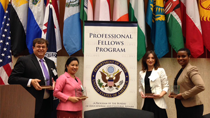 Fall 2014 Alumni Impact Awardees at the Department of State November 7, 2014.