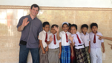 Seth in Indonesia during his Teachers for Global Classrooms program