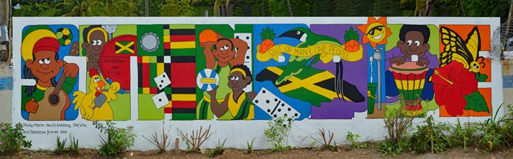 Jamaica mural in Standpipe