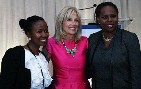 Photo of Jill Biden and TechWomen Participants