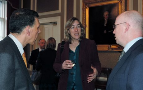 IVLP alumni talking with Katherine Grainger.