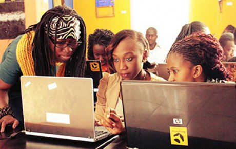 Fulbright U.S. Student alumna Joy Buolamwini (left) empowers women through technology education.