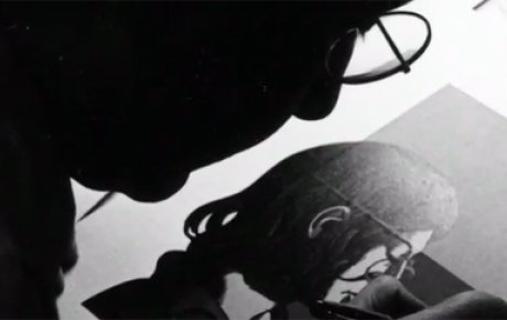 Video still from the Milton Glaser Fulbright Student to Italy, 1952 video