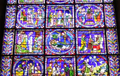 Canterbury Cathedral stained glass window, 12-13th-century AD