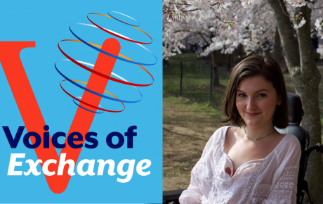 """The Office of Alumni Affairs is excited to launch its first season of """"Voices of Exchange"""" with Exchange Alumna Anna Landre, a CLS scholar to Brazil, disability rights advocate, and a newly minted Marshall Scholar."""