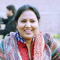 Rubina Feroze Bhatti, IVLP alumna and General Secretary of Pakistani human rights-based development group, the Taangh Wasaib Organization,