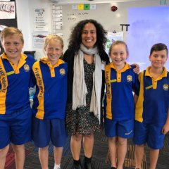 Michelle Lipkin and children