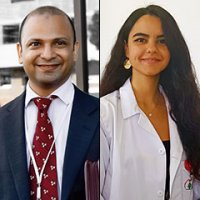 Dr. Shadi Khawandanah and Nataly Naser Al Deen