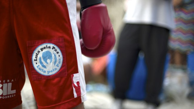 Picture of boxer's shorts with glove
