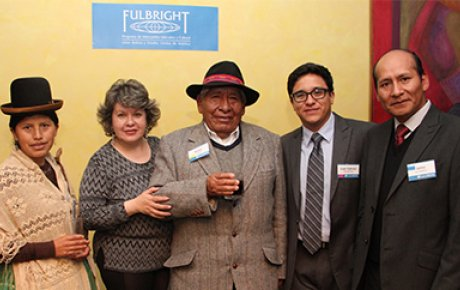 Bolivian International Exchange Alumni at the kickoff of the new U.S. Embassy-sponsored professional mentoring program.